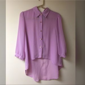Baby Pink/Purple High-Lo Blouse